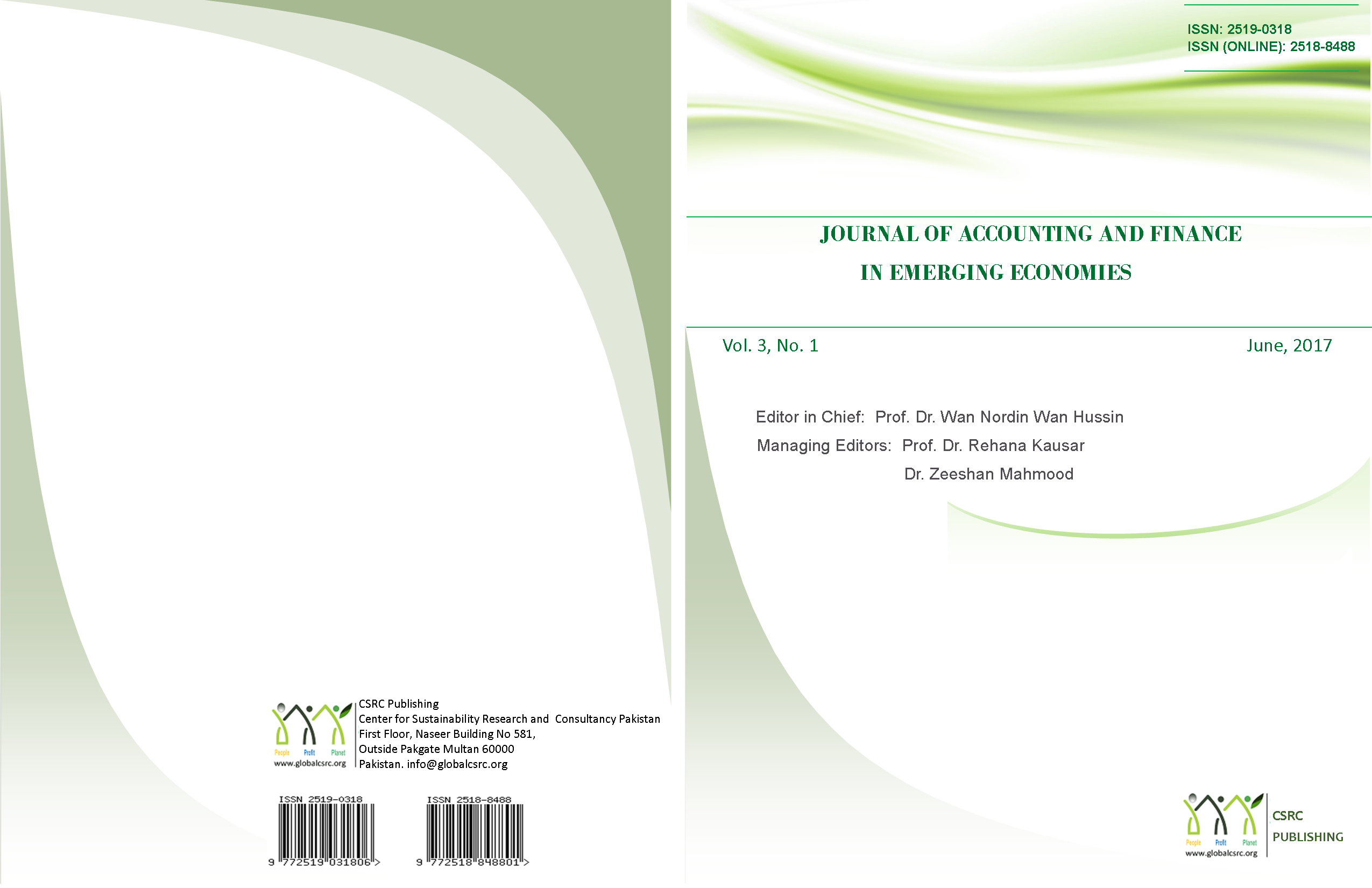 Journal of Accounting and Finance in Emerging Economies. Vol 3. Issue 1, June 2017