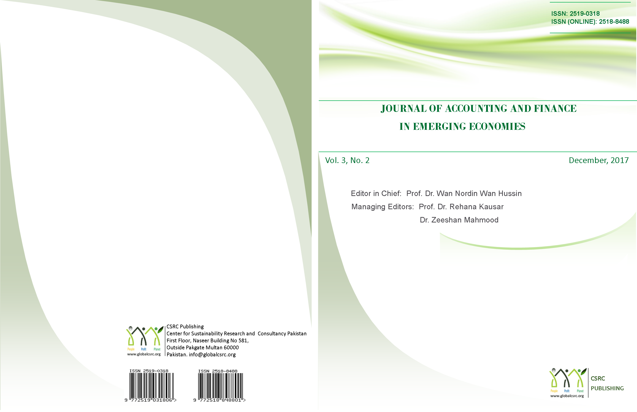 Journal of Accounting and Finance in Emerging Economies. Vol 3, issue 2, 2017