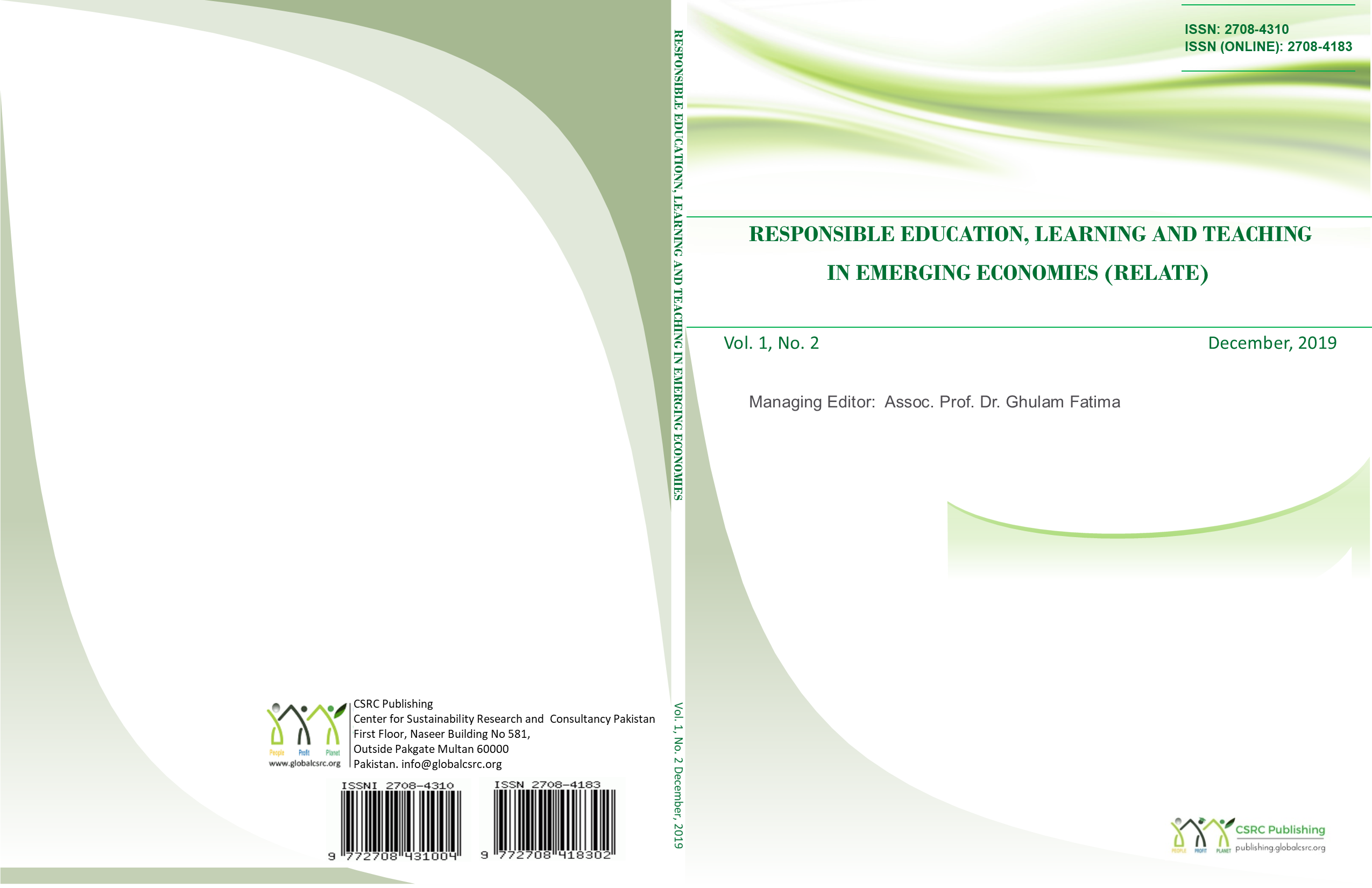 Responsible Education, Learning and Teaching in Emerging Economies (RELATE)